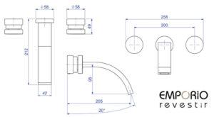 1878.C95 Deca Slide desenho técnico