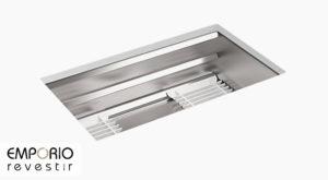 Prolific™ Pia de cozinha de cuba única de embutir de 838mm x 451mm com acessórios Prolific™