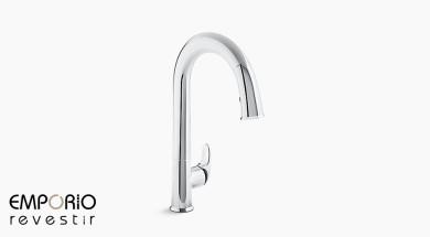Sensate™ Misturador monocomando de mesa para cozinha com ducha manual e acionamento sem toque