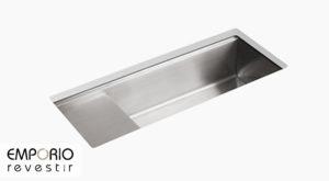 Stages™ Pia de cozinha de cuba única de embutir de 1173 mm x 470 mm com acessórios Stages™