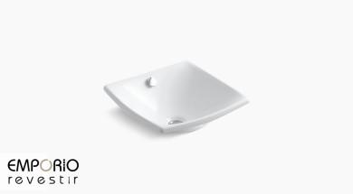 Escale™ Pia de banheiro com cuba em argila refratária Escale™