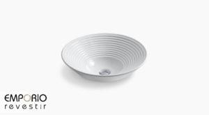 Turnings™ Pia de banheiro com cuba em argila refratária Turnings™